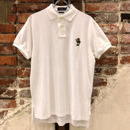 POLO RALPH LAUREN 1POINT BEAR POLO SHIRTS-WHITE