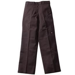 Dickies LOOSE FIT DOUBLE KNEE WORK PANTS - Dark Brown