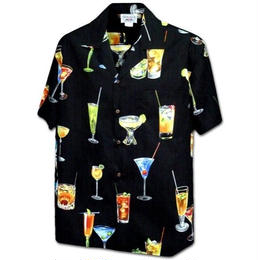 "PACIFIC LEGEND Hawaiian Shirts ""Cocktail"" - Black"