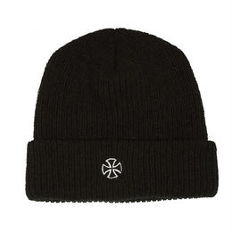 INDEPENDENT CROSS RIBBED BEANIE BLACK