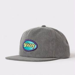 STUSSY LOGO BADGE SNAPBACK- Grey
