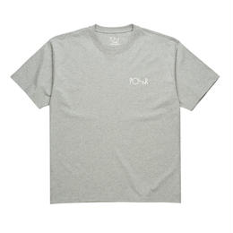 POLAR SKATE CO SCRIPT LOGO TEE - Heather Grey