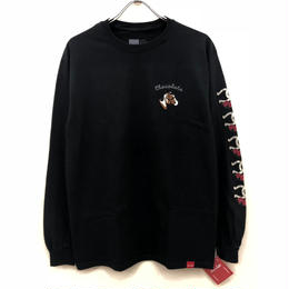 CHOCOLATE SKATEBOARDS STABLE L/S TEE -  BLACK