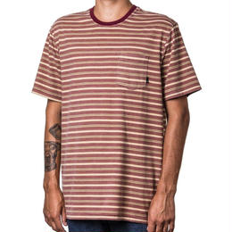 ALTAMONT  CROMWELL SS CREW TEE - BERRY STRIPE