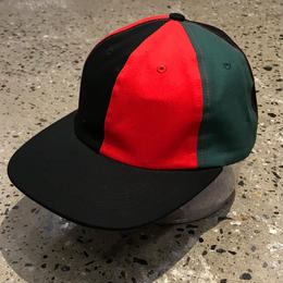 BUTTER GOODS PATCHWORK 6 PANEL CAP, BLACK/RED/FOREST