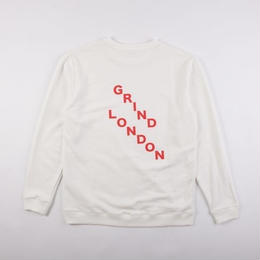 GRIND LONDON SQUAD SWEATSHIRT-WHITE