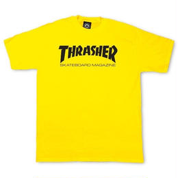 THRASHER SKATE MAG T SHIRTS - YELLOW