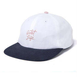 THE QUIET LIFE BOARDWALK POLO HAT - WHITE / NAVY