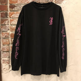 "PASS~PORT ""D.A.Y.W"" LONG SLEEVE TEE BLACK"