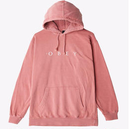 OBEY Novel OBEY Basic Pigment Pullover-Dusty Dark Rose