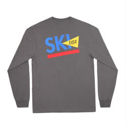 ONLY NY Ski USA L/S T-Shirt - Charcoal