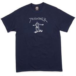 THRASHER  Gonz By Mark Gonzales T-Shirt - Navy