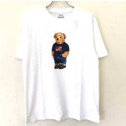 POLO RALPH LAUREN BOYS BEAR TEE-WHITE