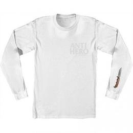 Anti Hero Buckshank Sleeve Long Sleeve T-Shirt - White/Grey