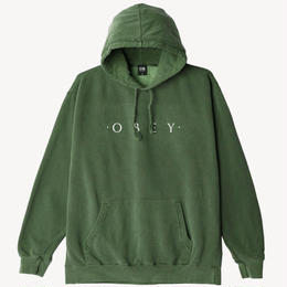 OBEY Novel OBEY Basic Pigment Pullover-Dusty Forest