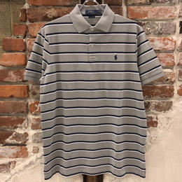 POLO RALPH LAUREN 1POINT STRIPE POLO SHIRTS-SOFT GREY