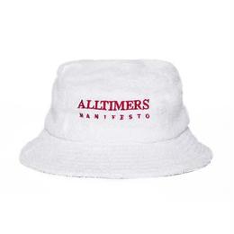 ALLTIMERS MANIFESTO TERRY BUCKET HAT - WHITE