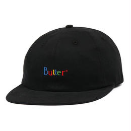 BUTTER GOODS WEB CLASSIC LOGO 6 PANEL CAP-BLACK