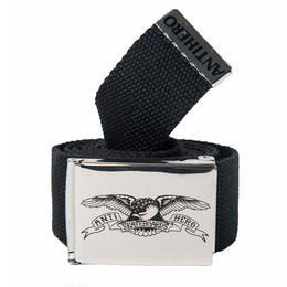 Anti Hero EAGLE WEB BELT-NICKLE/BLACK