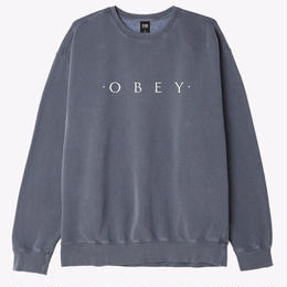OBEY Novel OBEY Basic Pigment Crew-Dusty Black