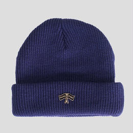 PASS~PORT  PP FLAGS PIN BEANIE - NAVY
