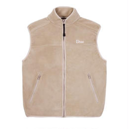 DIME POLAR FLEECE VEST -  Tan