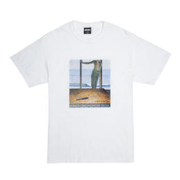 HOCKEY Carving Tee-WHITE