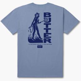 HUF X BUTTER GOODS DEVIL TEE - LIGHT BLUE
