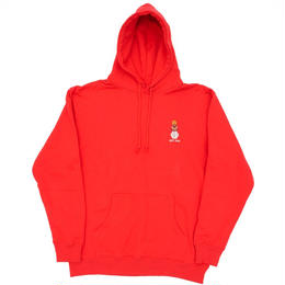 QUARTER SNACKS EMBROIDERED HOODY-RED