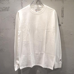 CHAMPION LONGSLEEVE T SHIRTS WHITE チャンピオン ワンポイント ロングスリーブ Tシャツ ホワイト