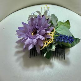 造花&水引髪飾り