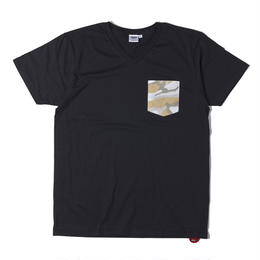 CAMO POCKET V-NECK TEE