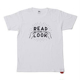 RUTSUBO×YUGO SATO READ BEFORE YOU LOOK TEE