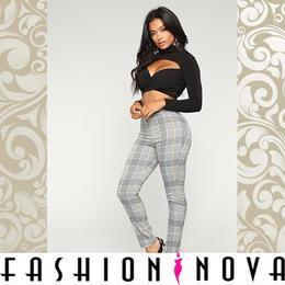 【Fashion Nova】グランチェックロングスキニーパンツ