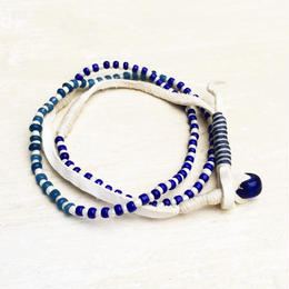 Blue Vintage Beads Necklace