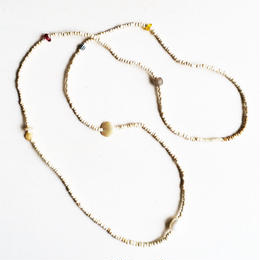 Nuts beads Long Necklace