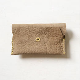 Leather Card Case/ BEIGE-b