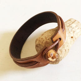 Leather Bracelet/ D-Brown
