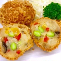 レンジでOK! 彩り夏野菜のコロッケ(2個入)