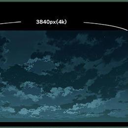 【イラスト背景】素材_時差雲05_夜