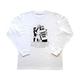 SakiBakery Logo&photo silkscreen print T-shirt