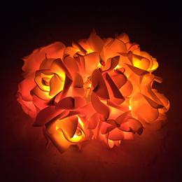 薔薇のLEDライト サーモンピンク
