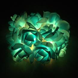 薔薇のLEDライト ブルー