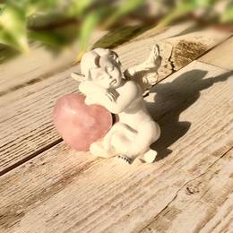 天使のハート型ローズクォーツ