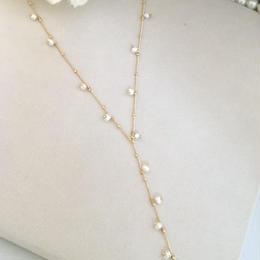 小粒パールY型ネックレス〈N-096〉