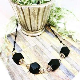 木製ブラックデザインネックレス〈N-106〉