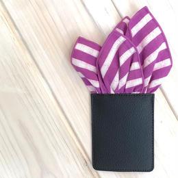 久留米絣ポケットチーフ(さんかく)