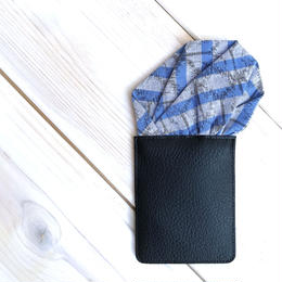 久留米絣ポケットチーフ(まる)