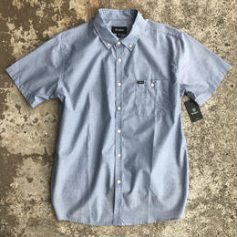BRIXTON CENTRAL S/S SHIRTS LIGHT BLUE CHAMBRAY  半袖 シャツ