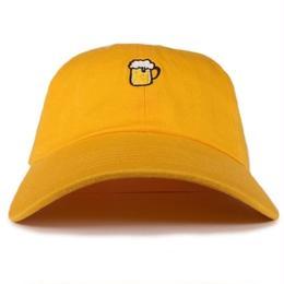 "EAZYMISS  ""BEER 6 PANEL CAP""  GOLD  キャップ シックスパネル"